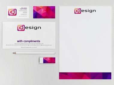 business cards design.