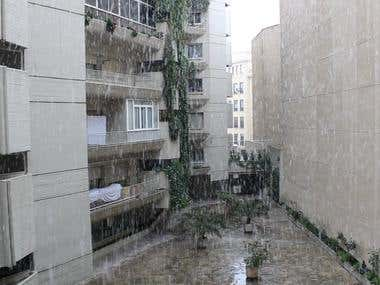 Madrid nevando