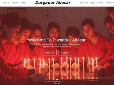 Durgapur Abosar - NGO Website