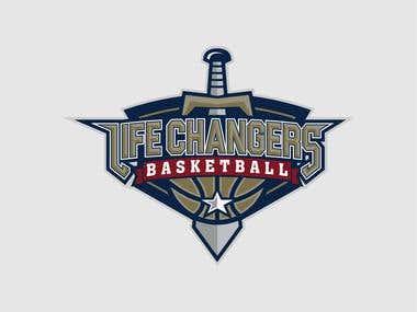 Life Changers Basketball Logo Design