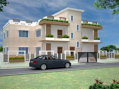2. 3-D Exterior View of Residencial Project