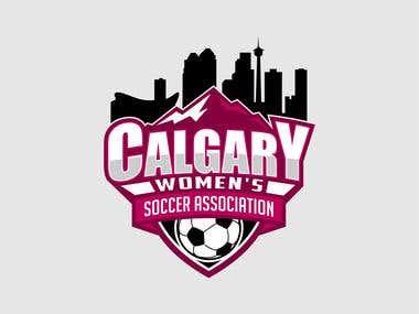 Calgary Womens Soccer Association Logo Designs