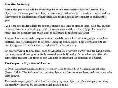 Academic - A Strategic Analysis of Amazon