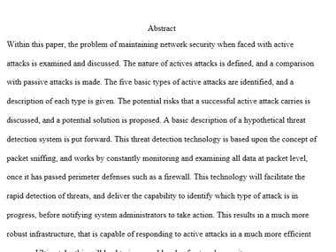 Academic - Network Security