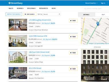 Web scraping for real Estate site