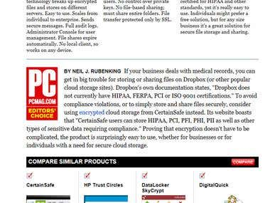 PCMag Editors' Choice Award for CertainSafe