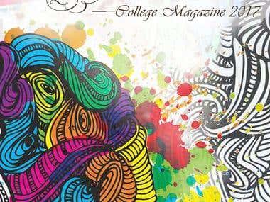 Magazine Cover For College