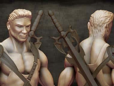 High Dertail 3D Character