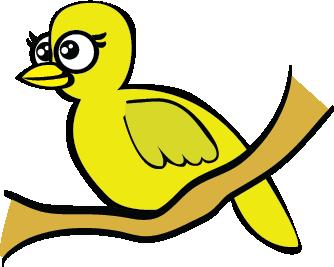 Cartoon Yellow Bird
