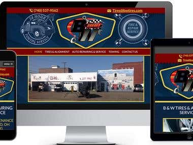 Auto Repairing Website Development