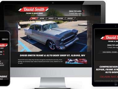 Automobile Body-shop Services Website Development