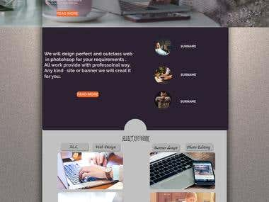WEB DESIGN IN PHOTO SHOP