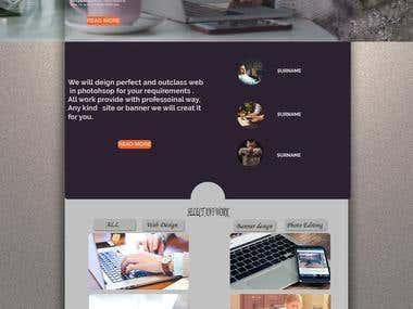 WEB DESIGN IN PHOTO SHOP