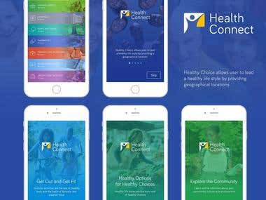 Health Connect Android and iOS app.