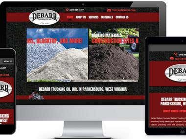 Truck Website Development