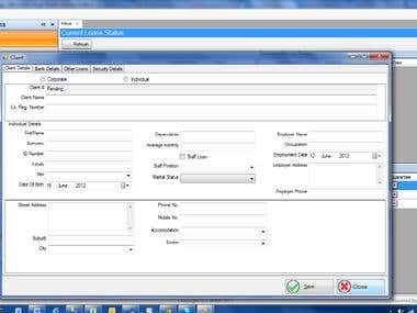 Loan Management System for a finance House