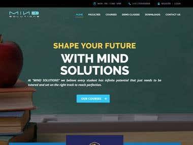 Mind Solutions | Education Website