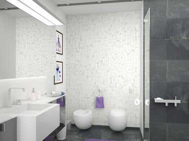 """Purple"" Bathroom Design"