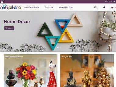 Handmade Product Ecommerece Website