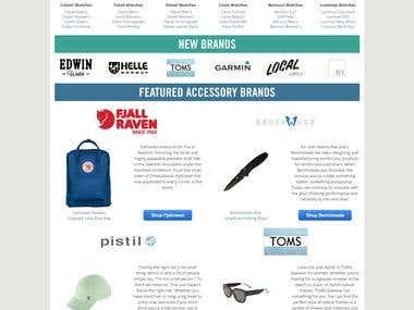 Website for online shopping
