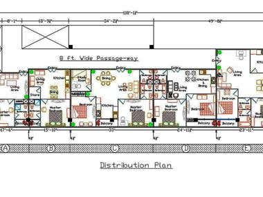 Floor Plan of a small spacious apartment.