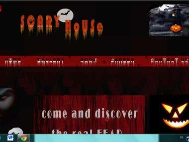 Homepage of a scary house