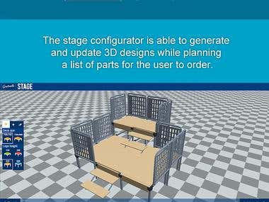 3D Stage Configurator