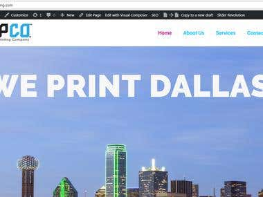 Full Ink Printing Website