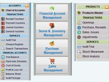 Financial Accounts, Inventory, Purchase and Sales Management
