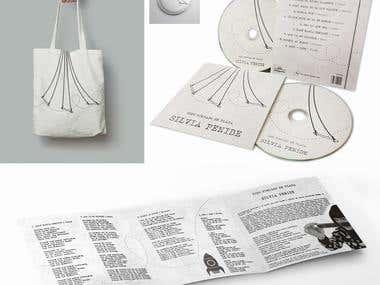 Diseño de disco + merchandising