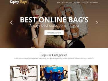 Onlie Bag Website Design