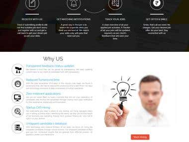 Website Design and Development for Hiringclouds