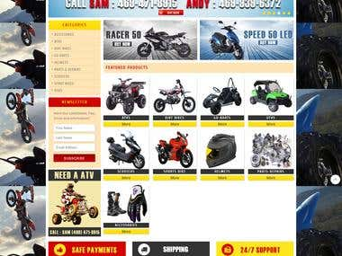 Website Design and Development for dfwscootersandatvs