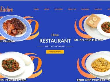 restaurant site made in wordpress