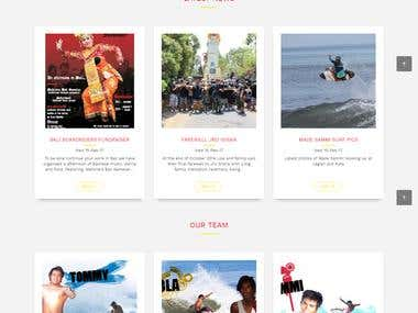 Website Design and Development for baliboardriders