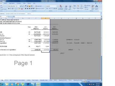 ACCOUNT SHEET
