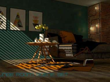 3D rendered scenes in 3dsmax and V-ray