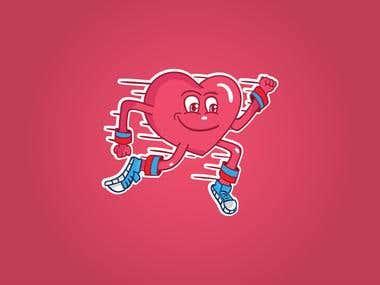 Running Heart Illustration