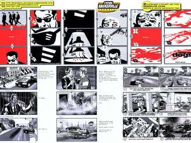Reservoir Dogs storyboards