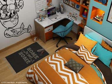 COLORFUL CHILDROOM
