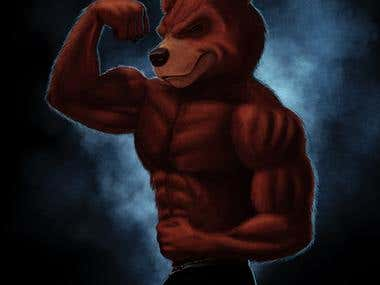 Bodybuilder Bear