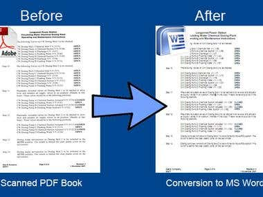 PDF Manual Conversion to Doc format