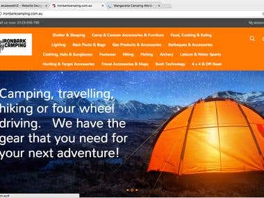 Ecommerce website - http://ironbarkcamping.com.au