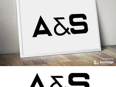 A&S Word mark Logo Design