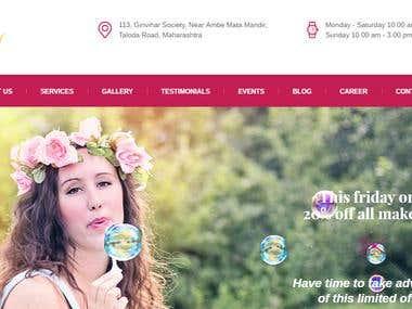 Neha's Beauty & Spa - Salon WordPress Website