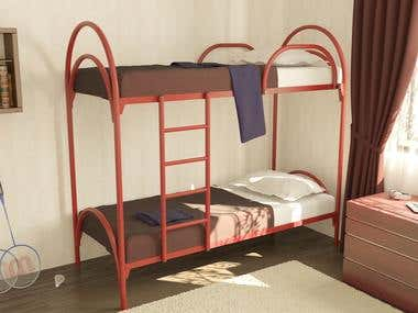 3D Double-decker Bed