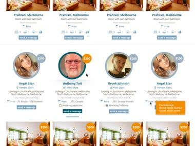 Development of the website for search of apartment rental