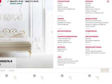 Development of the website for Italian furniture shop