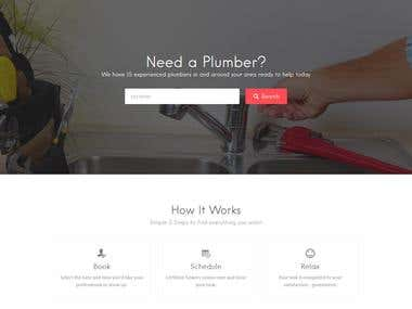 Plumber Services - Online Booking Website