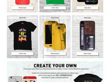 E-Commerce Website [ http://www.bhishoom.com/]
